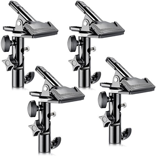 Neewer 4 x Photo Studio Heavy Duty Metal Clamps with 5/8 inch Light Stand Mount for Studio Photo Reflector