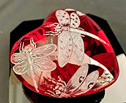 Red Baccarat Paperweight