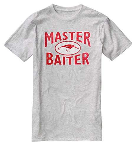 Nu Image E019 Master Baiter Funny Fishing Tee Grey XL