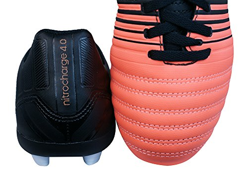 Adidas Nitrocharge 4.0 FXG Bota de Fútbol Junior Negro/Blanco/Naranja