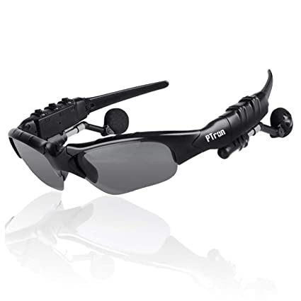 8e9b304a75f Image Unavailable. Image not available for. Colour: PTron Viki Bluetooth  Headset Sunglasses ...