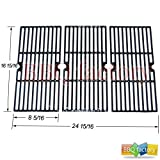 grill centro - bbq factory JGX123 Replacement Porcelain coated Cast Iron Cooking Grid Set of 3 for Select Gas Grill Models By Charbroil, Centro, Broil King , Kenmore, Costco, K Mart , Master Chef and Others