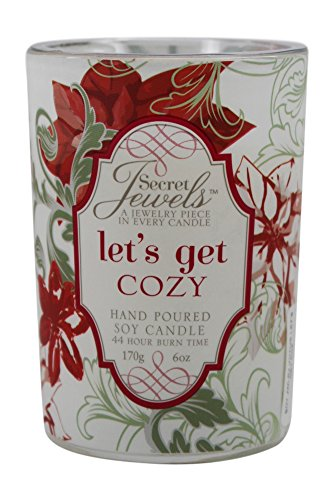 Secret Jewels GiftCraft Soy Jewelry Votive Candle, Let's Get Cozy