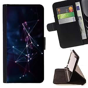 King Art - Premium-PU-Leder-Prima caja de la PU billetera de cuero con ranuras para tarjetas, efectivo Compartimiento desmontable y correa para la mu?eca FOR Sony Xperia Z1 C6902 C6903 C6906- Constellation Space
