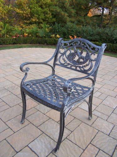 Oakland Living Hummingbird Cast Aluminum Arm Chair, Antique Pewter