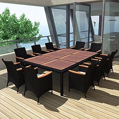 SSITG ratán Muebles de Jardín Asiento Grupo Jardín (Sillas: Amazon.es: Jardín