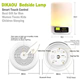 DIKAOU Touch Bedside Lamp with LED Bluetooth