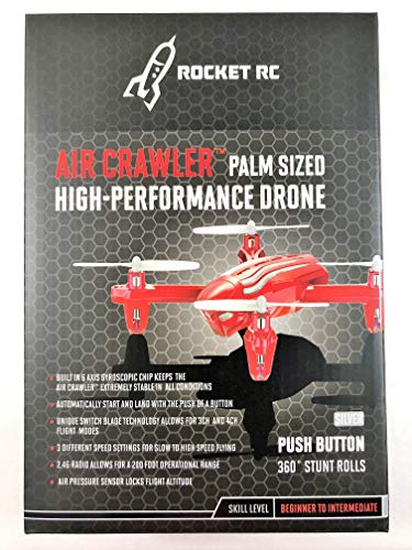 (Rocket RC Air Crawler Palm Sized High-Performance Drone)