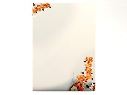 Paper-Media - Papel con diseño otoñal (100 hojas, DIN A4, 90 g/m² ...