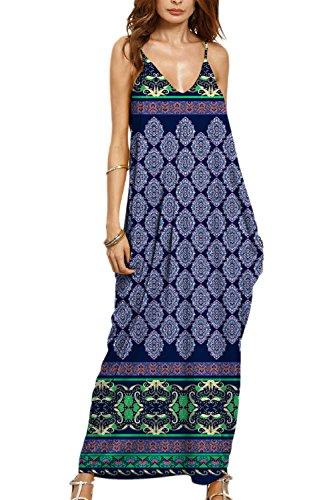 Cami Vacaciones Floral Maxi Mujeres Verano Boho Playa Dress Print De Las 1 Y8fHqwtgxY