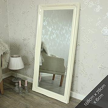 Extra grande crema Ornato da parete/pavimento Specchio: Amazon.it ...