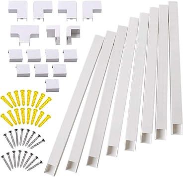 Kit de corrector de cable de pared para ocultar y ordenar cables, cables o cables, organiza cables a televisores y ordenadores en casa o en la oficina