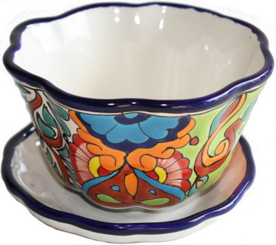 Ceramic Planter Talavera (Fine Crafts Imports Petunia Talavera Ceramic Pot)