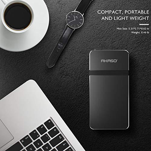 Pico Projector AKASO Mini Projector Portable 1080P HD DLP LED 50 ANSI Lumens with WiFi HDMI USB Micro SD amp 35mm Audio and Remote Control for iPhone Android Laptop PC Game Home Theater