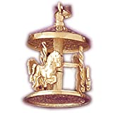 CleverSilvers 14k Gold Charm 3-D Carousels 13.2 - Gram(s)