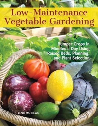 Low-Maintenance Vegetable Gardening: Bumper Crops in Minutes a Day Using Raised Beds, Planning, and Plant Selection Paperback – April 10, 2018 Clare Matthews CompanionHouse Books 1620082470 Techniques