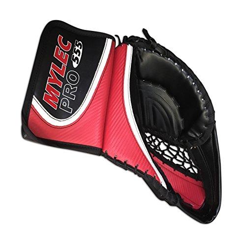 - Mylec 555 Full Right Senior Hockey Catch Glove Red/White/Black