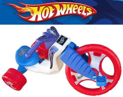 """The Original Big Wheel """"HOT WHEELS"""" Trike Limited Edition Ride-On - Red/Wht/Blue w/Blue Decals -  J. Lloyd International"""