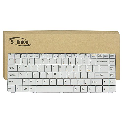 S-Union New White Laptop US Replacement Keyboard for Sony Vaio PCG-7111L PCG-7112L PCG-7113L PCG-7131L PCG-7132L PCG-7153L PCG-7154L PCG-7161L PCG-7162L PCG-7111L Series Part Number V072078BS2 - Vaio Keyboard