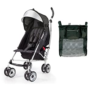 Summer Infant 3D Lite Convenience Stroller with Parent Tray Organizer, Black