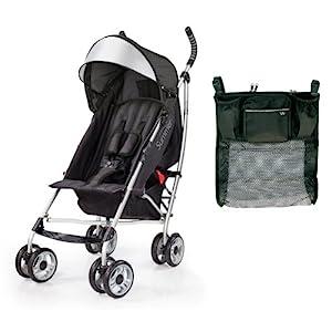 Summer Infant 3D Lite Convenience Stroller with Parent Tray Organizer, Black