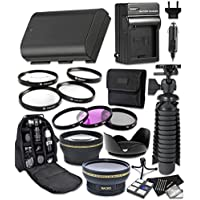 Canon EOS 7D mark II, 60D, 70D, 80D, 6D, 5D Mark III, 5D Mark IV, 5DS, 5DS R Digital Cameras 14pc Accessory Bundle Includes LP-E6 Replacement Battery, AC/DC Worldwide Charger, Camera Backpack and More