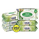 Cottonelle GentlePlus Flushable Wet Wipes with Aloe & Vitamin E, 252 Wipes per Pack