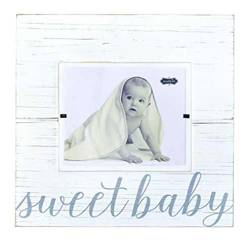 Mud Pie Sweet Baby Deluxe Wood Frame Nursery Décor, Gray, 8