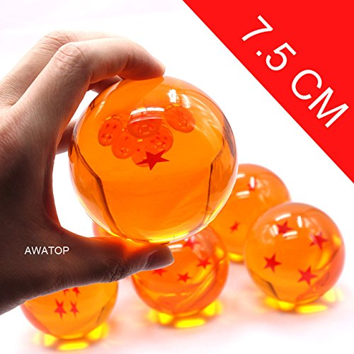 Game, Fun, 7.5CM 7cm big size 1 2 3 4 5 6 7 star dragonball dragon ball crystal balls z action figures classic toys for chlidren New in box, Toy, Play