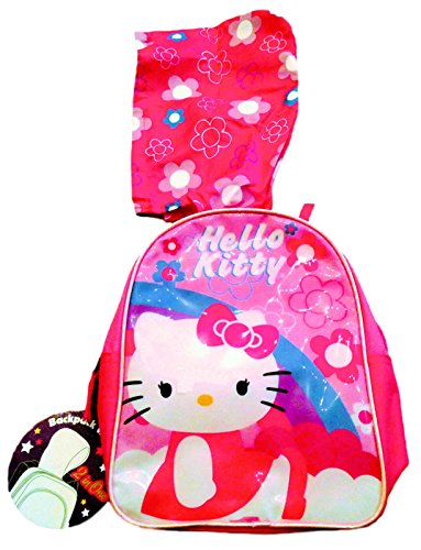 Disney Toddler Preschool Backpack (Hello Kitty with Rain Hood)