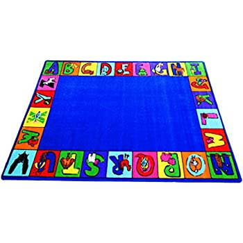 My ABC Squares Kids Rug Rug Size: 66