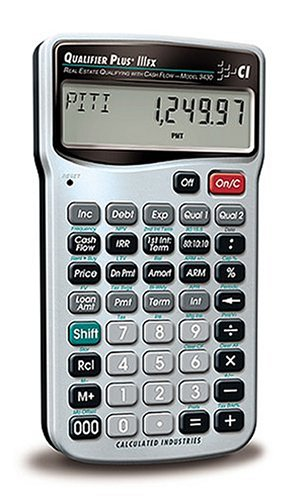 Calculated Industries 3430 Qualifier Plus IIIFX Real Estate Finance Calculator