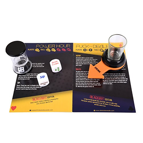 Drinking Games Kit for Adults - BLACKOUT 20 Items Party Game