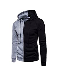 Men's Outwear for Men Hoodie Stitching Zipper Coat Sport,Thick Coats