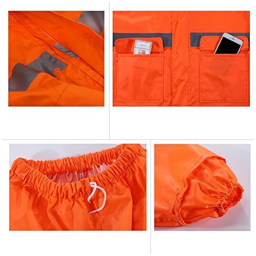 Guyuan Lluvia Ropa Impermeable Limpieza Saneamiento Trabajador Carreteras Especial Fluorescent construcción Impermeable red Reflectante Capa Impermeable única Pantalones Gruesa de tFwrtqX