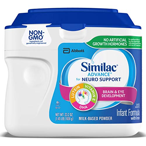 Similac Advance For Neuro Support, Non-GMO Infant Formula with Iron, Baby Formula Powder, 23.2 oz (Pack of 6) Packaging May Vary (Difference Between Similac Advance And Go And Grow)