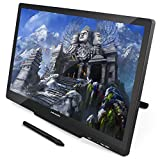 Huion GT-220 v2 Pen Display 21.5 Inch IPS Tablet Monitor with Enhanced Linearity and Accurate Cursor Positioning (Black)
