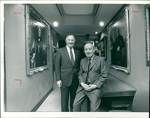 Vintage photo of Sir Alistair Frame and Derek Birkin