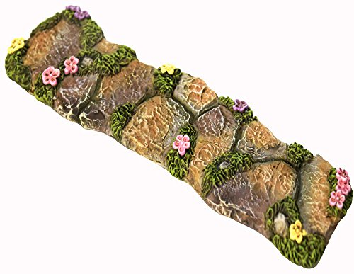 Twig & Flower The Miniature Fairy Garden Walkway With lovely Hand Painted Flowers and Fairy moss by
