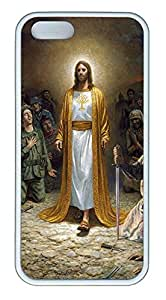 iPhone 5 5S Case Jesus In Robe TPU Custom iPhone 5 5S Case Cover White