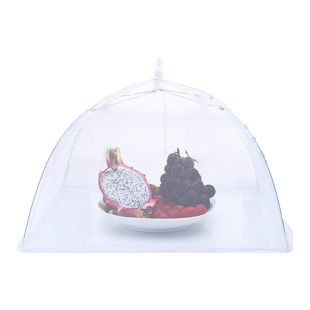12 pouces Couvercle pour moustiquaire Couvercle amovible pour tente barbecue zezego Cloche Alimentaire Amovible Couvercle de tente pour moustiquaire pliant