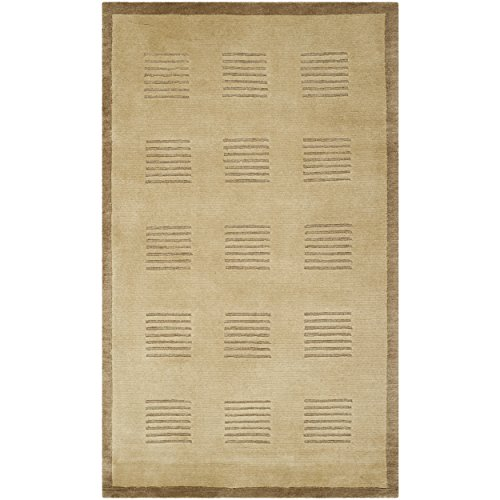 Safavieh Tibetan Collection TB106B Hand-Knotted Camel and Brown Wool Area Rug (4' x ()