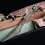 "K EXCLUSIVE Otherworld Steampunk Gun Blade Sword with Nylon Shoulder Sheath - Antique Finish, Laser-Etched and Engraved Accents, Spinning Barrel - 26"" Length 8"