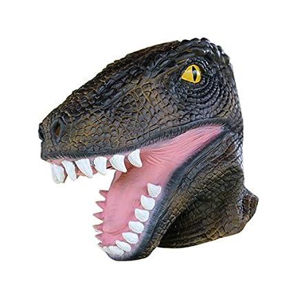 LianLe Halloween Prop Dinosaurio Máscara Látex Animal Fiesta Cara Máscara Halloween Disfrace
