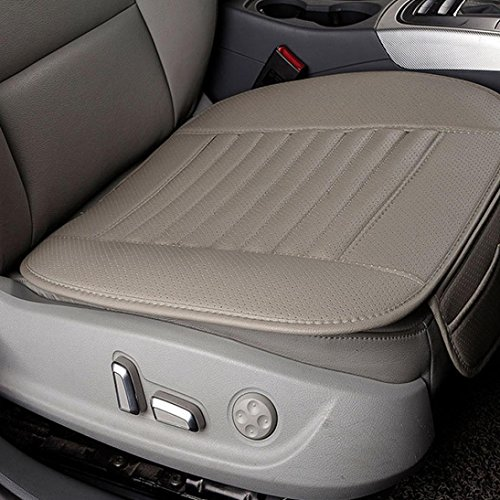 Car Seat Cushion, Transer Breathable PU Leather Bamboo Charcoal Car Seat Cover Pad Mat Protector Auto Chair Cushion (Gray)
