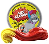 GearsOut Ass Clown Reality Relief Putty Gag Idea Adults Stocking Stuffers Teens Weird Donkey Gags Clown Heat-Activated Color-Changing Therapy Putty Red Yellow