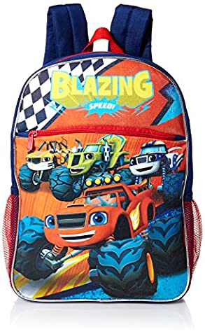 Nickelodeon Boys' Blaze and the Monster Trucks Backpack Little, Red - Red Monster Truck