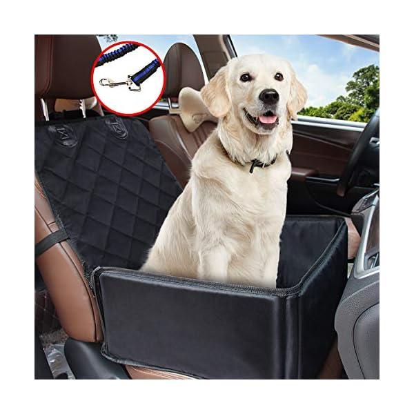 51BMDNEfukL Yikaich Hundesitz Auto Hunde Autositz Rückbank & Vordersitz Transportbox Wasserdicht, für Kleine Mittlere große Hunde