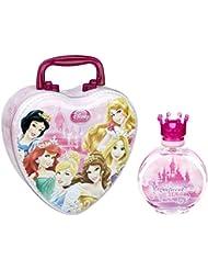 Disney Princess Magnificent Beauties Eau De Toilette Spray for Girls with Metal Lunch Box, 3.4 Fluid Ounce