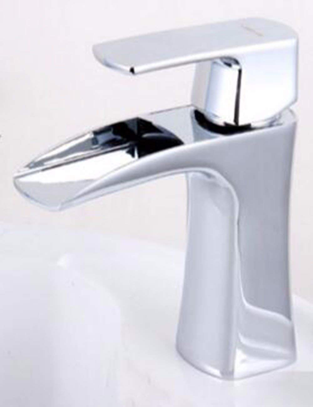 JingJingnet asinミキサータップathroomシンクの蛇口銅製の冷水タップ、洗面台の洗面化粧台のセラミックシンクの蛇口の表面は、タップから落ちる、 (Color : B) B07R2J3JY6 B